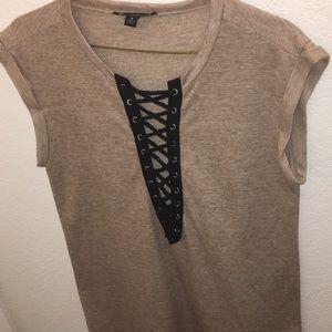 Nude/Cream T-shirt Dress
